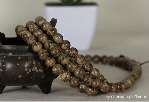 印尼马泥涝沉香佛珠8mm 108颗念珠手链